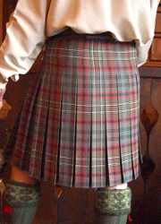 Lady Chrystel kilts from France  Box pleated kilt