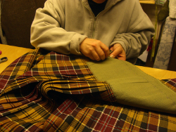 Lady Chrystel kilts from France  Fabrication d'un Kingussie  Entoilage de la taille